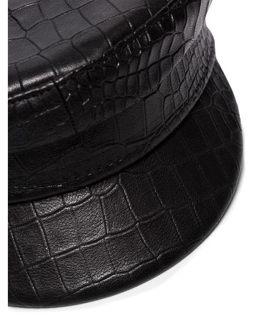 Фуражка С Тиснением Под Кожу Крокодила Ruslan Baginskiy, цвет: Black
