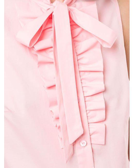 Paule Ka ラッフル ノースリーブトップ Pink