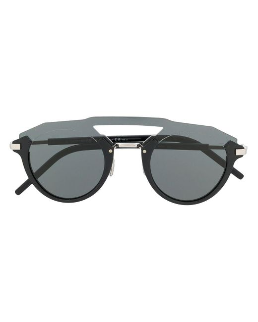 Dior Futuristic ラウンドフレーム サングラス Black