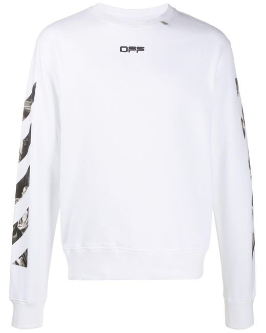 Off-White c/o Virgil Abloh White Caravaggio Print Sweatshirt for men
