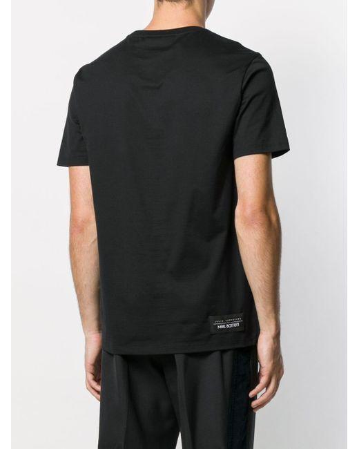 T-shirt ample imprimé Neil Barrett pour homme en coloris Black