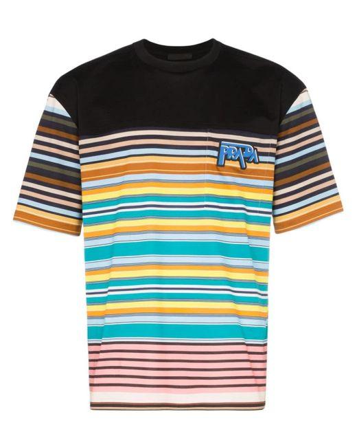 メンズ Prada ボーダー Tシャツ Multicolor