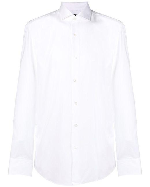 BOSS - White Classic Plain Shirt for Men - Lyst