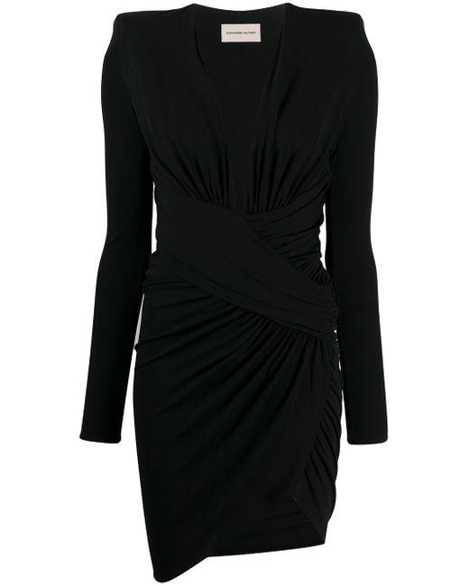 Alexandre Vauthier Vネックドレス Black