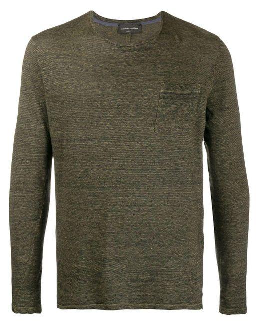 メンズ Roberto Collina パッチポケット Tシャツ Green