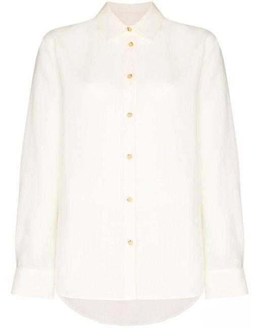 Asceno Camisa Milan de mujer de color blanco BTcaX
