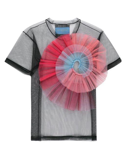 Viktor & Rolf Black 'Rainbow Twist' T-Shirt