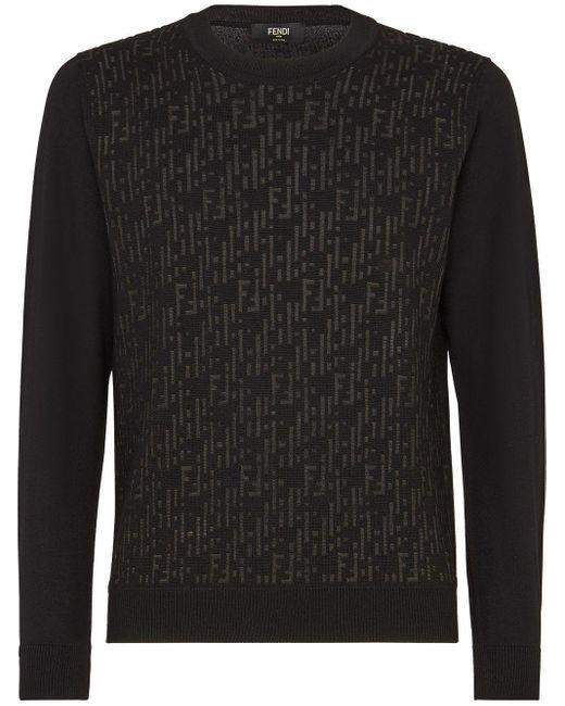 Пуловер С Логотипом Ff Fendi для него, цвет: Black