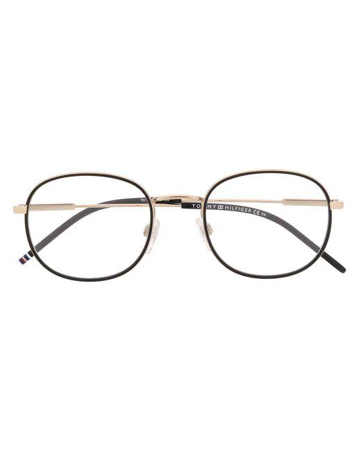 Tommy Hilfiger メタリック ラウンド眼鏡フレーム Multicolor