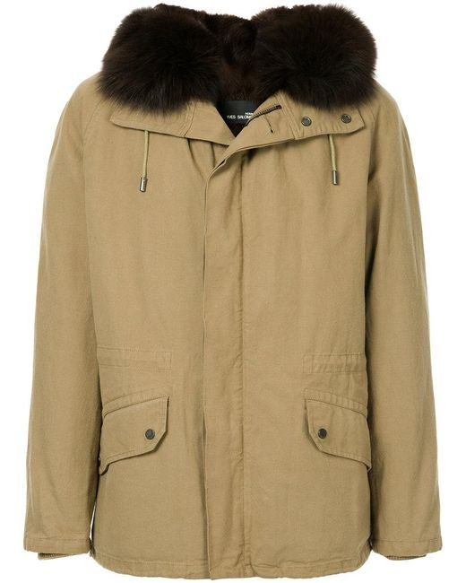 Yves Salomon - Brown Fur Hooded Coat for Men - Lyst
