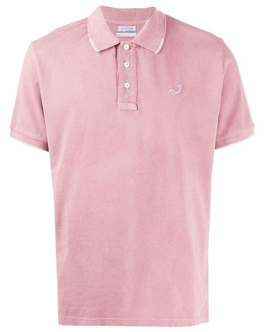 メンズ Jacob Cohen ロゴ ポロシャツ Pink