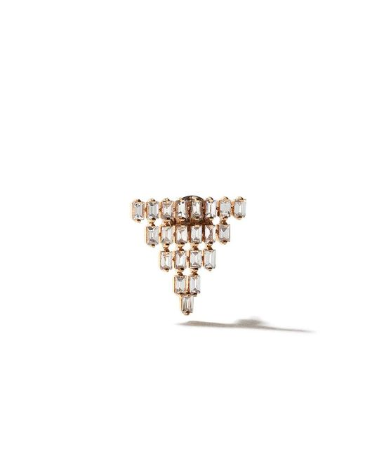 AS29 Baguette 5 ダイヤモンド ピアス 18kローズゴールド Metallic