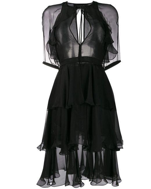 DSquared² ラッフル ドレス Black