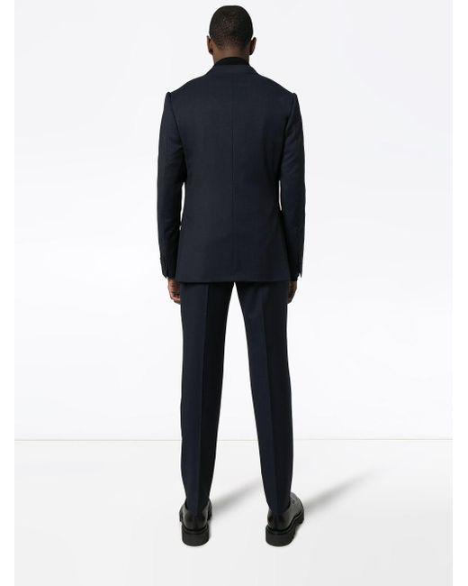 Costume à carreaux Ermenegildo Zegna pour homme en coloris Blue