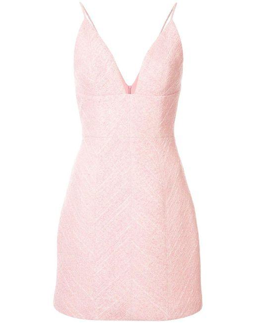Manning Cartell Vネック ドレス Pink