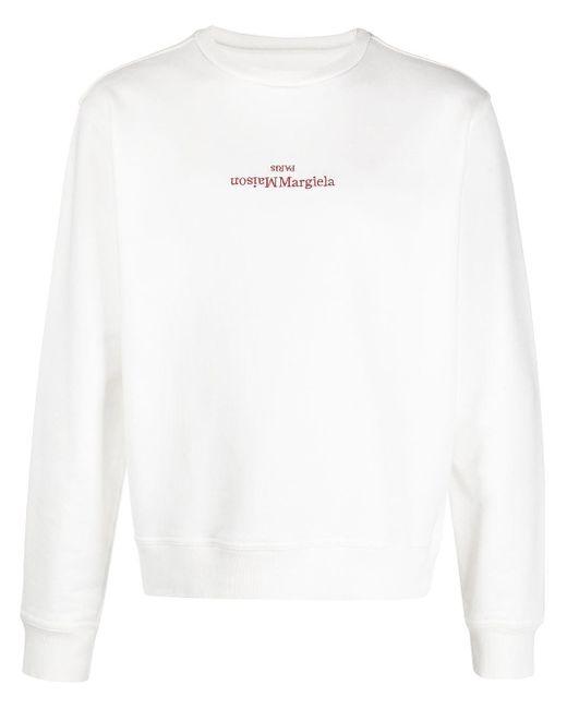 メンズ Maison Margiela ロゴ スウェットシャツ White