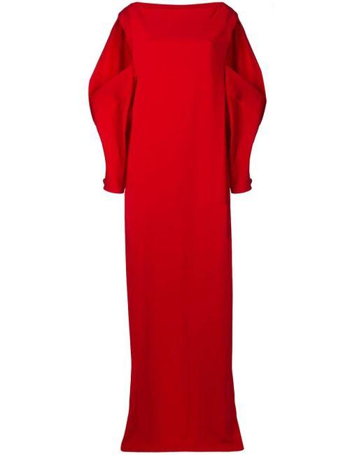 Chalayan オープンショルダー ロングドレス Red