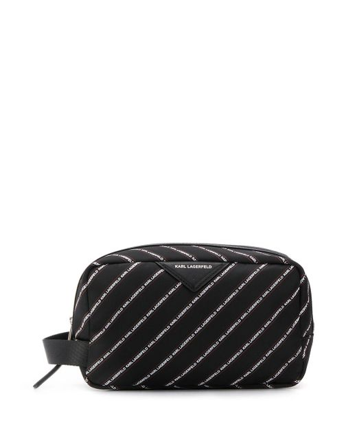 Karl Lagerfeld K/stripe コスメポーチ Black