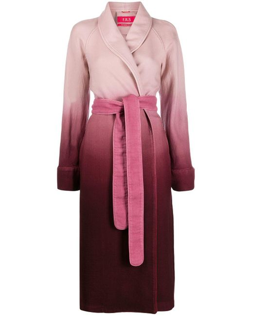 F.R.S For Restless Sleepers Pink Ombré Robe Coat