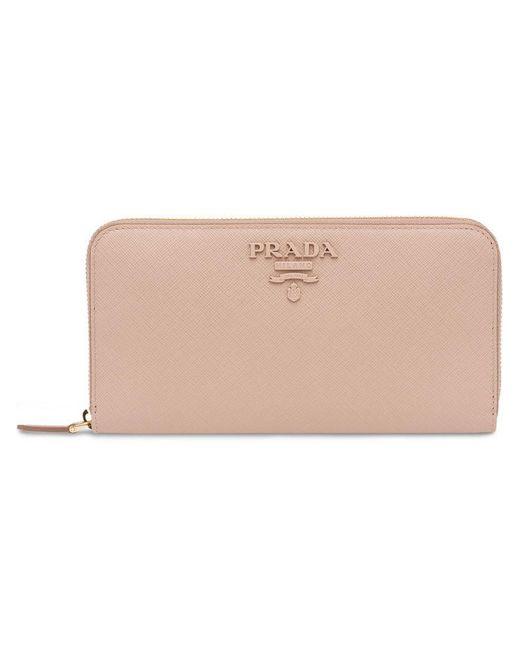Prada - Pink Continental Wallet - Lyst