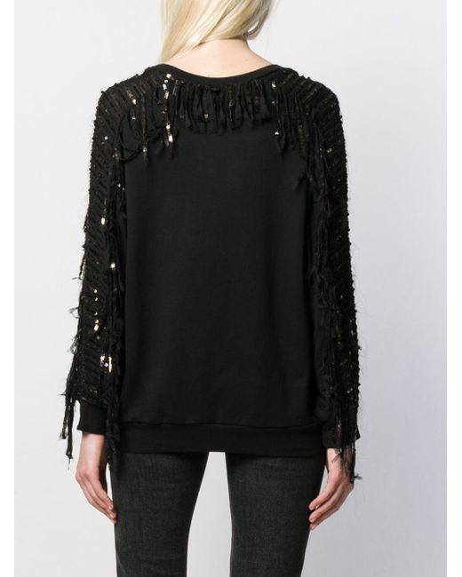 Twin Set スパンコール スウェットシャツ Black