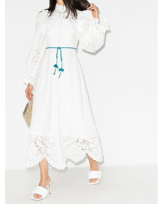 Zimmermann Carnaby マキシドレス White