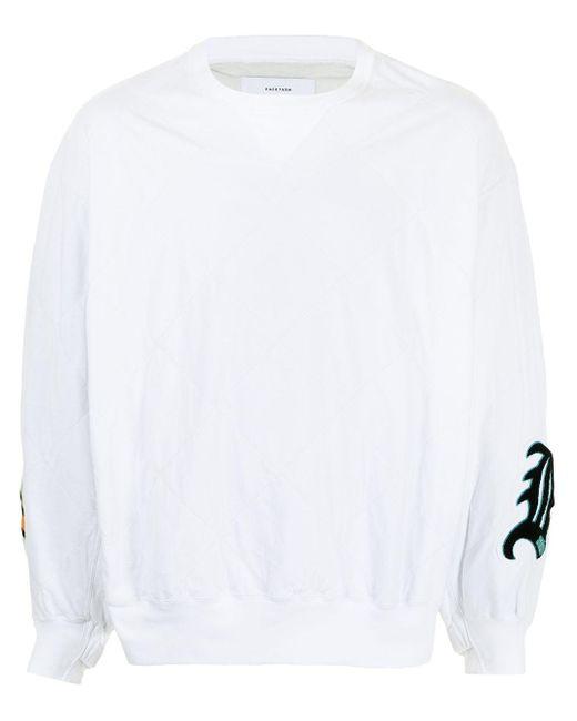 Свитер Оверсайз С Нашивкой-логотипом Facetasm для него, цвет: White