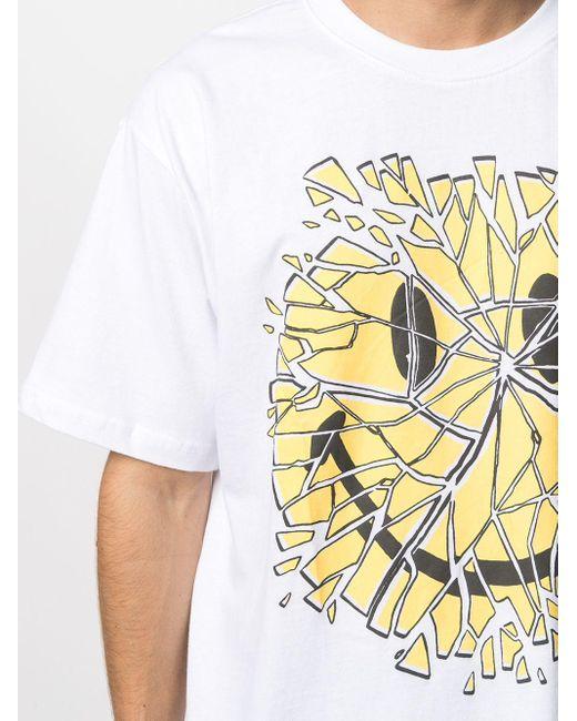 メンズ Chinatown Market Glass Smiley Tシャツ White