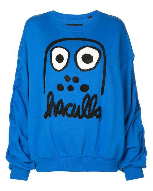 Haculla Monster プリント スウェットシャツ Blue