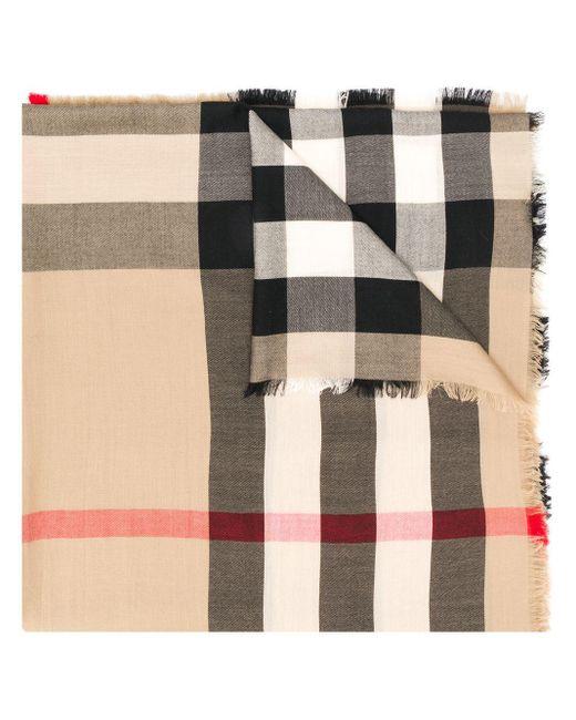 Burberry カシミア チェック スカーフ Multicolor
