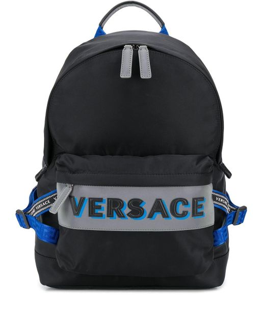 Рюкзак Из Нейлона Versace для него, цвет: Black