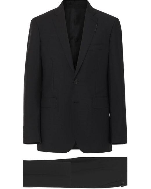 メンズ Burberry スリムフィット スーツ Black