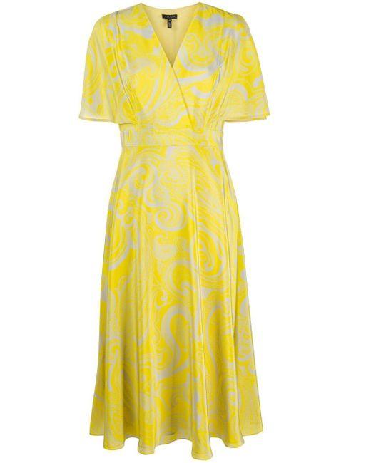 ESCADA ペイズリー ドレス Yellow