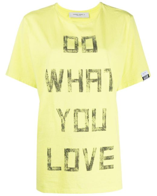 Golden Goose Deluxe Brand Do What You Love Tシャツ Yellow
