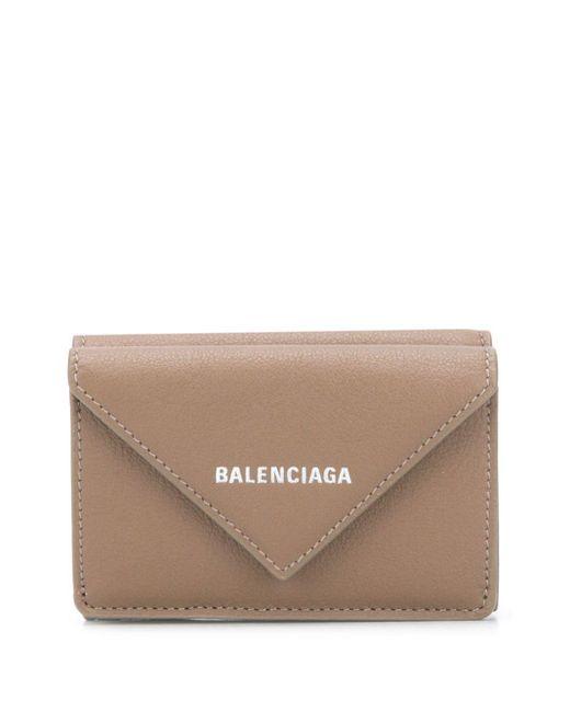 Мини-кошелек Paper Balenciaga, цвет: Brown