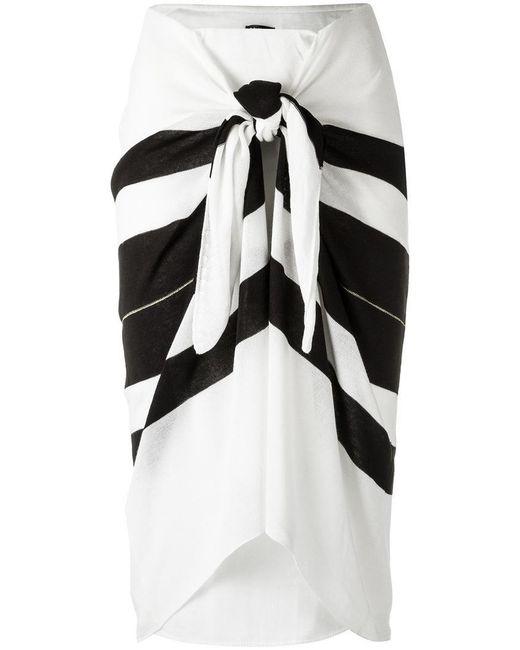 Osklen   Black Striped Midi Skirt   Lyst