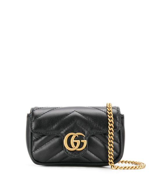 Gucci Leren Handtas in het Black