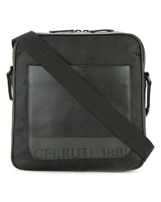 Cerruti 1881 - Black Front Pocket Messenger Bag for Men - Lyst
