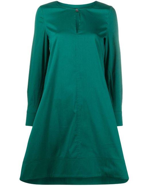 Twin Set スリットネック ドレス Green
