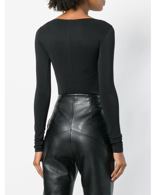 Rick Owens Lilies Fitted Round Neck Body Black