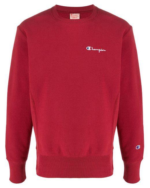 メンズ Champion スウェットシャツ Red