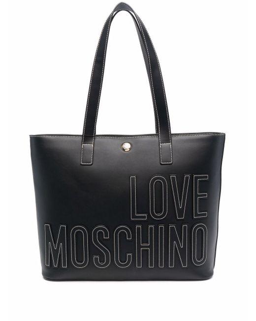 Love Moschino ロゴパッチ ハンドバッグ Black
