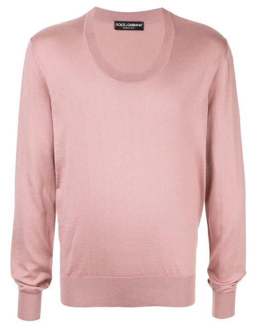 Dolce & Gabbana Trui Met Ronde Hals in het Pink voor heren