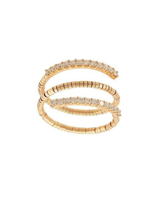 Mattia Cielo Metallic 18kt Rose Gold Diamond Triple Ring