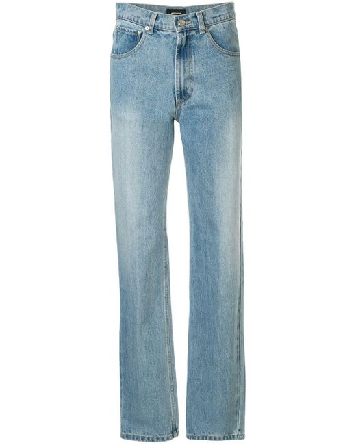 we11done Blue Long Straight-leg Jeans