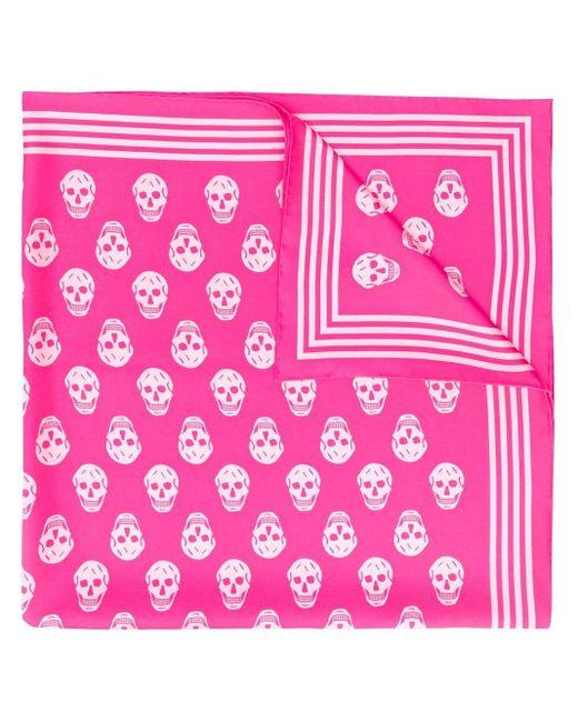 Alexander McQueen スカル スカーフ Pink