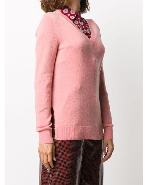 MICHAEL Michael Kors カシミア Vネックセーター Pink