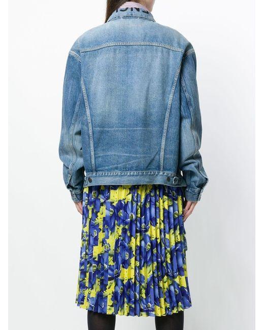 Balenciaga ウエストタイ デニムジャケット Blue