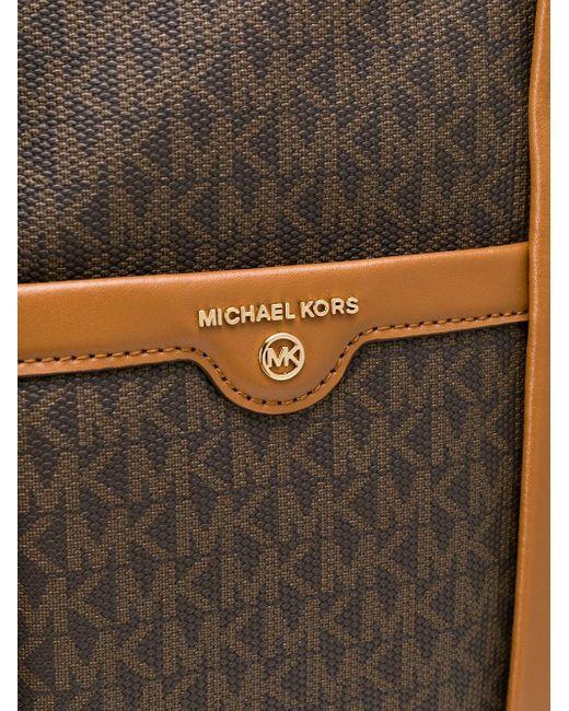 MICHAEL Michael Kors モノグラムロゴ ハンドバッグ Brown