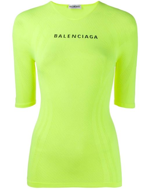 Balenciaga ロゴ Tシャツ Yellow
